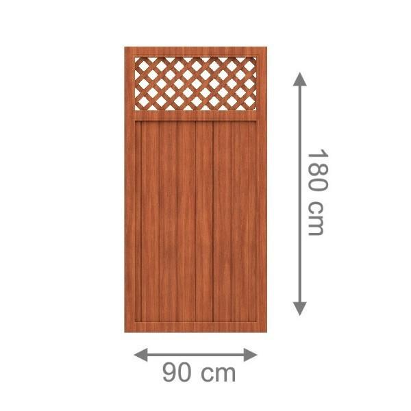 br gmann sichtschutzzaun longlife riva rechteck mit gitter braun 90 x 180 cm. Black Bedroom Furniture Sets. Home Design Ideas