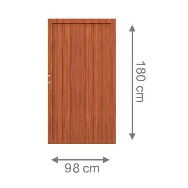 br gmann sichtschutzzaun longlife riva tor braun inkl schloss 98 x 180 cm. Black Bedroom Furniture Sets. Home Design Ideas