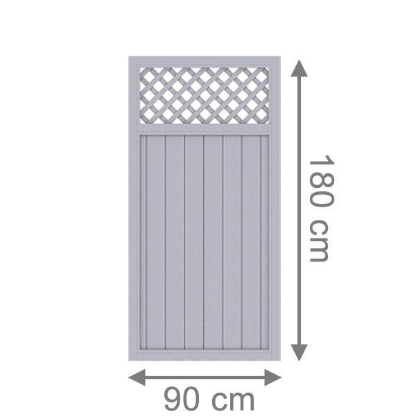 br gmann sichtschutzzaun longlife riva rechteck mit gitter grau 90 x 180 cm. Black Bedroom Furniture Sets. Home Design Ideas