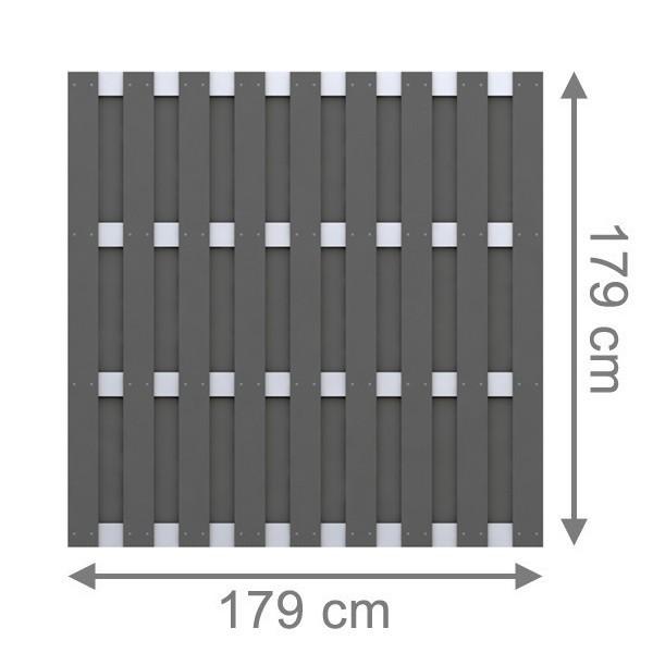 br gmann sichtschutzzaun jumbo wpc alu design rechteck. Black Bedroom Furniture Sets. Home Design Ideas