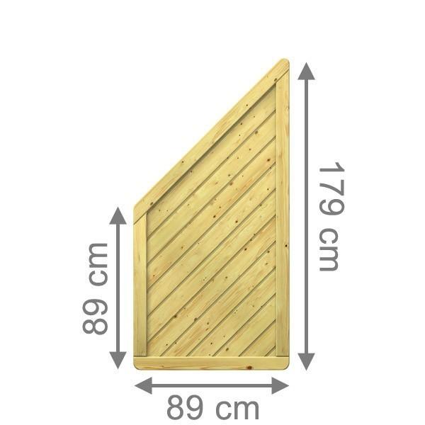 br gmann sichtschutzzaun gada anschluss kdi 89 x 179 auf. Black Bedroom Furniture Sets. Home Design Ideas