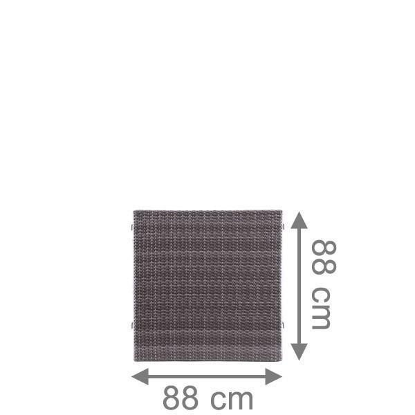 Br gmann sichtschutzzaun weave rechteck anthrazit 88 x 88 cm for Sichtschutzzaun anthrazit