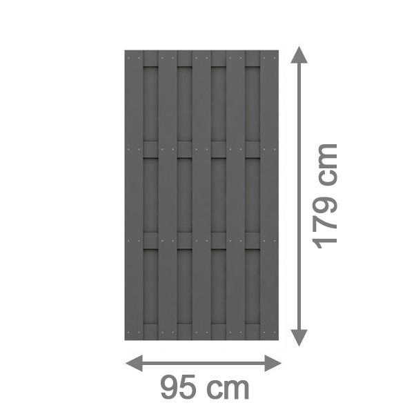 br gmann sichtschutzzaun jumbo wpc rechteck anthrazit 95 x 179 cm. Black Bedroom Furniture Sets. Home Design Ideas