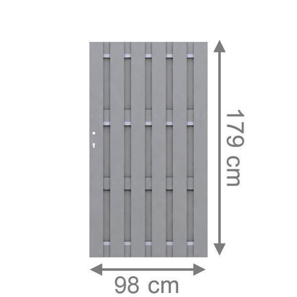 br gmann sichtschutzzaun jumbo wpc tor grau 98 x 179 cm. Black Bedroom Furniture Sets. Home Design Ideas