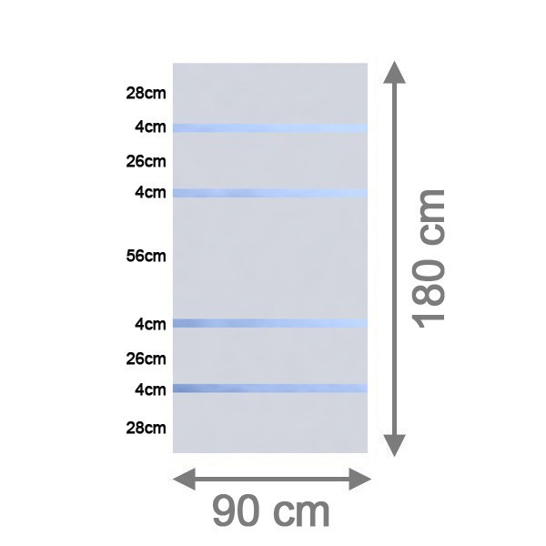 br gmann sichtschutzzaun system glas alpha rechteck 90 x 180 x 0 8 cm. Black Bedroom Furniture Sets. Home Design Ideas