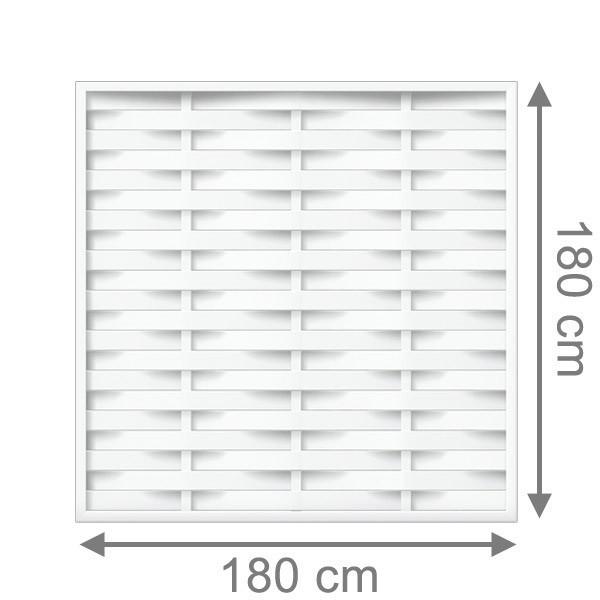 br gmann sichtschutzzaun longlife romo rechteck wei 180 x 180 cm. Black Bedroom Furniture Sets. Home Design Ideas