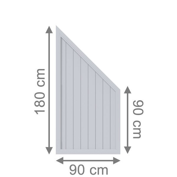 br gmann sichtschutzzaun longlife riva anschluss grau 90. Black Bedroom Furniture Sets. Home Design Ideas