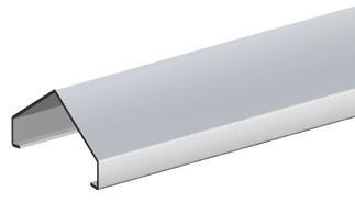 br gmann designaufsatz alu f r 56 60mm l nge 180 cm. Black Bedroom Furniture Sets. Home Design Ideas