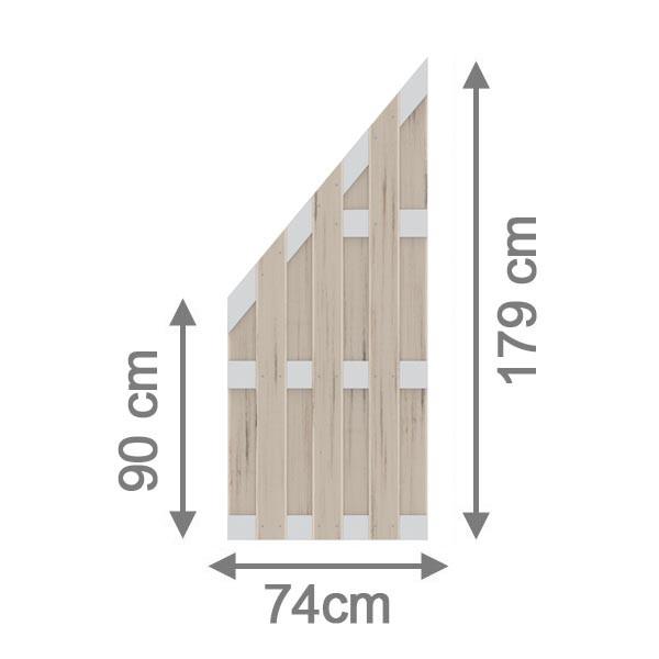 br gmann sichtschutzzaun jumbo wpc alu design anschluss sand 74 x 179 auf 90 cm. Black Bedroom Furniture Sets. Home Design Ideas