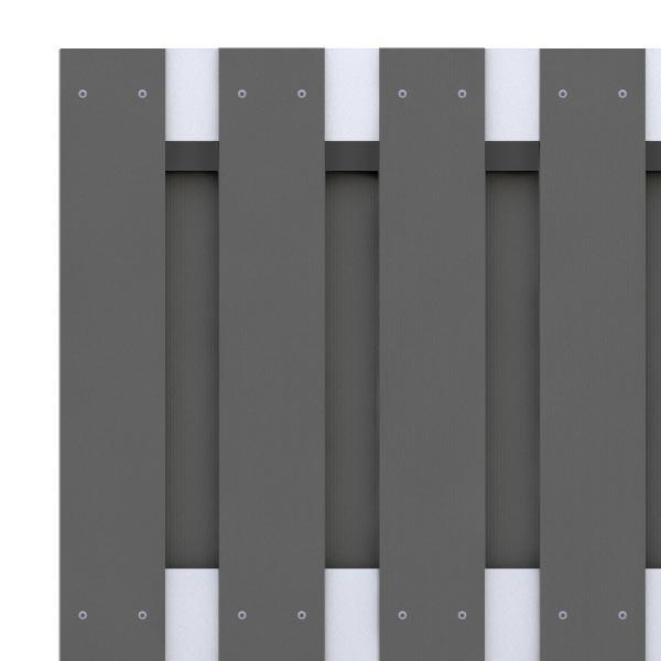 br gmann sichtschutzzaun jumbo wpc alu design tor anthrazit 98 x 179 cm. Black Bedroom Furniture Sets. Home Design Ideas