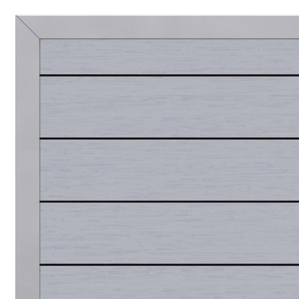 br gmann sichtschutzzaun system wpc tor din links grau silber 98 x 179 cm. Black Bedroom Furniture Sets. Home Design Ideas