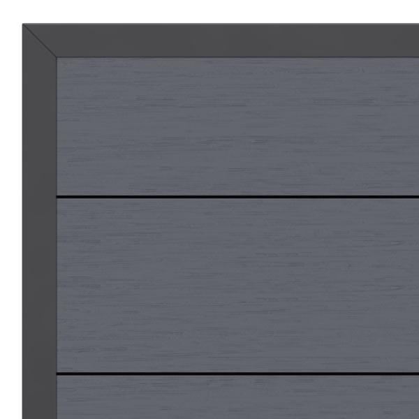 br gmann sichtschutzzaun system wpc xl tor din links anthrazit anthrazit 98 x 179 cm. Black Bedroom Furniture Sets. Home Design Ideas