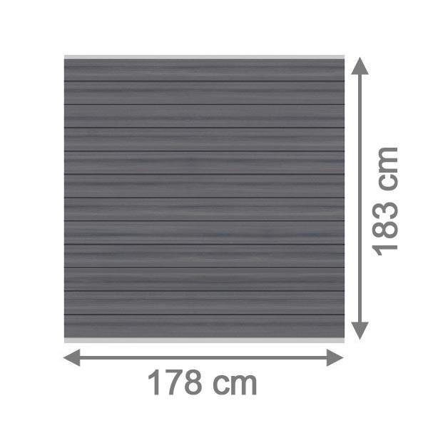 br gmann sichtschutzzaun system wpc platinum set grau silber 178 x 183 cm. Black Bedroom Furniture Sets. Home Design Ideas