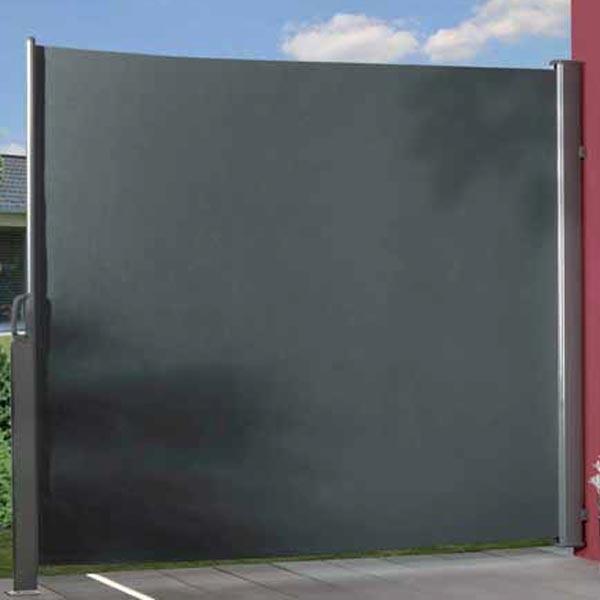 br gmann seitenmarkise zum ausziehen anthrazit 180 x 350 cm. Black Bedroom Furniture Sets. Home Design Ideas