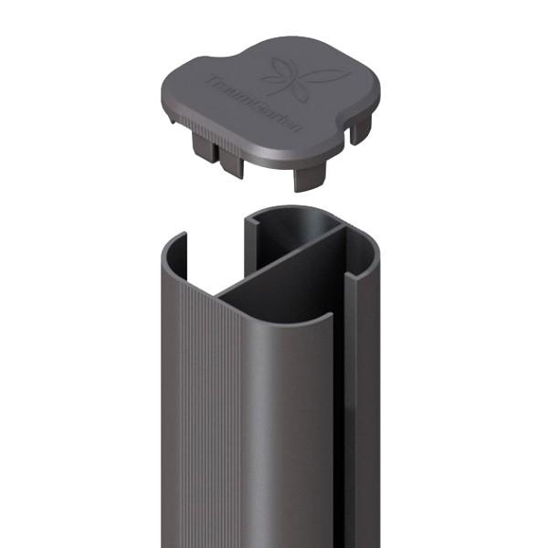 br gmann system eck zaunpfosten f r erdverbau anthrazit 7 x 7 x 298 cm. Black Bedroom Furniture Sets. Home Design Ideas