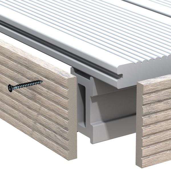 br gmann dreamdeck wpc bicolor abschlussleiste sand 1 x 8 x 200 cm. Black Bedroom Furniture Sets. Home Design Ideas