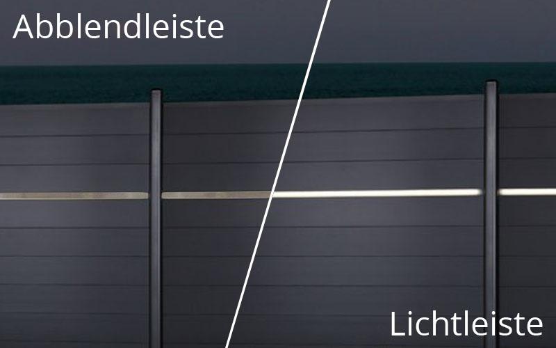 TraumGarten Blende Edelstahl für LED Lichtleiste - 179 x 2 x 3 cm