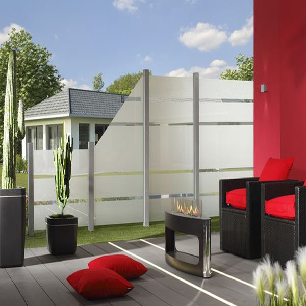 br gmann sichtschutzzaun system glas alpha rechteck 90 x 180 x 0 8 cm. Black Bedroom Furniture Sets. Home Design Ideas