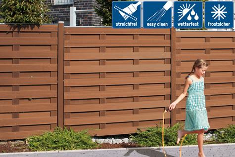 sichtschutz garten kunststoff braun – igelscout, Terrassen ideen