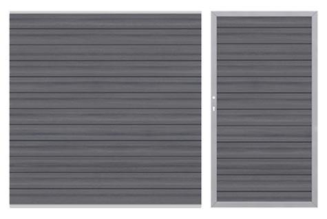 sichtschutzzaun system wpc platinum grau jetzt g nstig online kaufen. Black Bedroom Furniture Sets. Home Design Ideas