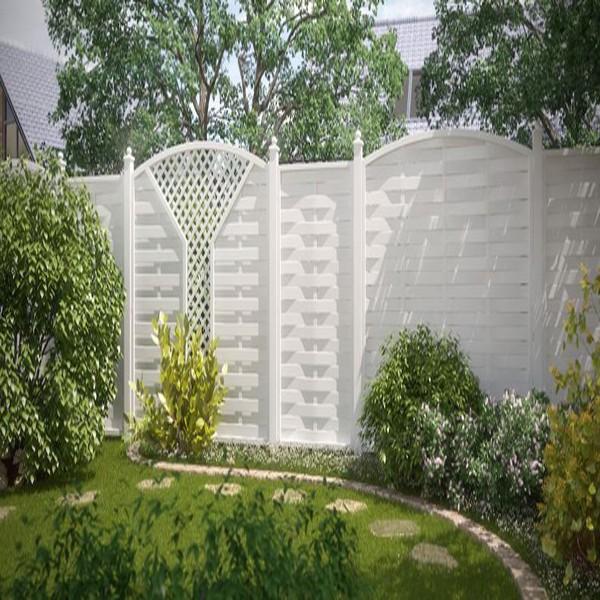 br gmann sichtschutzzaun longlife romo rechteck wei 90 x 180 cm. Black Bedroom Furniture Sets. Home Design Ideas
