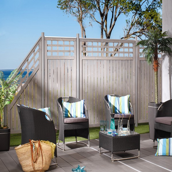 br gmann sichtschutzzaun como tor mit gitter grau lasiert 98 x 179 cm. Black Bedroom Furniture Sets. Home Design Ideas