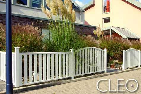 garten zaun longlife cleo vorgartenzaun aus kunststoff. Black Bedroom Furniture Sets. Home Design Ideas