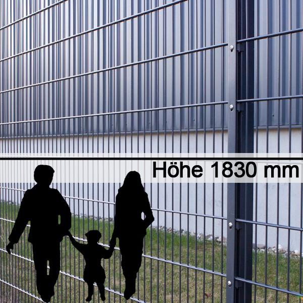 metallzaun 8 6 8 max ral 7016 h he 1830 mm. Black Bedroom Furniture Sets. Home Design Ideas