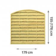 TraumGarten Sichtschutzzaun Lettland Rundbogen kdi - 179 x 155 (179) cm