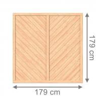 Brügmann Sichtschutzzaun ALTAI MARO Rechteck naturbelassen - 179 x 179 cm