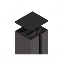 br gmann system klemmpfosten anthrazit 8 x 8 x 105 cm. Black Bedroom Furniture Sets. Home Design Ideas