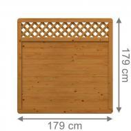 Brügmann Sichtschutzzaun ARZAGO Rechteck mit Gitter braun lasiert - 179 x 179 cm