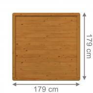 Brügmann Sichtschutzzaun ARZAGO Rechteck braun lasiert - 179 x 179 cm