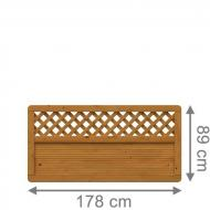 Brügmann Sichtschutzzaun ARZAGO Rechteck mit Gitter braun lasiert - 179 x 89 cm