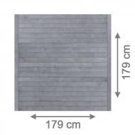 Brügmann Sichtschutzzaun NEO Rechteck grau lasiert - 179 x 179 cm