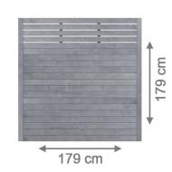 Brügmann Sichtschutzzaun NEO Rechteck mit Gitter grau lasiert - 179 x 179 cm