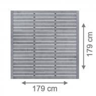 Brügmann Sichtschutzzaun NEO Rechteck offen grau lasiert - 179 x 179 cm