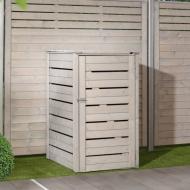 TraumGarten Mülltonnenbox Neo grau lasiert -75 x 92 x 123 cm
