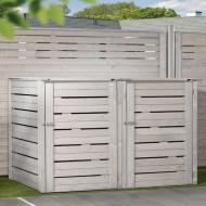 TraumGarten Mülltonnenbox Neo grau lasiert - 150 x 92 x 123 cm