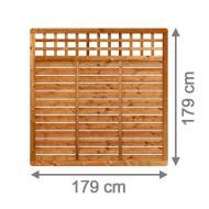 Brügmann Sichtschutzzaun GALANT Rechteck mit Gitter braun lasiert - 179 x 179 cm