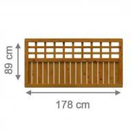 Brügmann Sichtschutzzaun COMO Rechteck mit Gitter braun lasiert - 178 x 89 cm