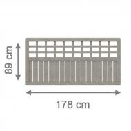 Brügmann Sichtschutzzaun COMO Rechteck grau lasiert - 178 x 89 cm