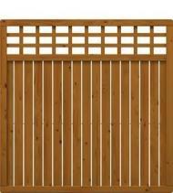 TraumGarten Sichtschutzzaun Como Rechteck mit Gitter braun lasiert - 178 x 178 cm