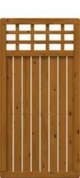 Brügmann Sichtschutzzaun COMO Rechteck mit Gitter braun lasiert - 89 x 178 cm