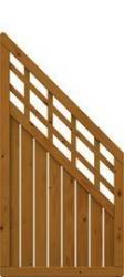 Brügmann Sichtschutzzaun COMO Anschluss mit Gitter braun lasiert - 89 x 178 auf 89 cm