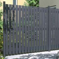 TraumGarten Sichtschutzzaun Squadra Rechteck anthrazit - Maßanfertigung Breite 20-200 x Höhe 91-200 cm
