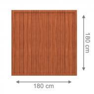 TraumGarten Sichtschutzzaun Longlife Riva Rechteck braun - 180 x 180 cm