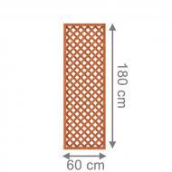 TraumGarten Rankgitter Longlife Rechteck braun - 60 x 180 cm