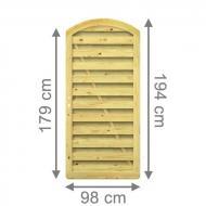 Brügmann Sichtschutzzaun XL Tor rund kdi - 98 x 179 (194) cm
