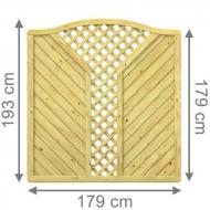 Brügmann Sichtschutzzaun GADA Krone mit V-Gitter kdi - 179 x 179 (193) cm